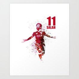 SALAH -11 red Art Print