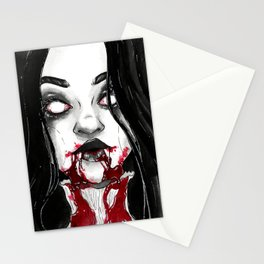 Drooling - Inktober Stationery Cards