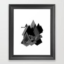 Mountains Inside Framed Art Print
