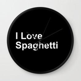 I Love Spaghetti Wall Clock