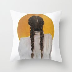 S U N Throw Pillow