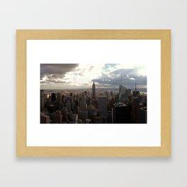 New York Skyline 1 Framed Art Print