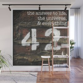 42 - The Meaning of Life. Wall Mural