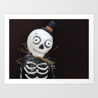 Sir Skeleton Art Print