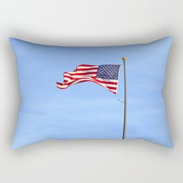 Flag on Skinner Butte Rectangular Pillow