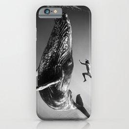 la baleine et le nageur iPhone Case
