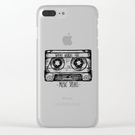 Where Words Fail, Music Speaks Clear iPhone Case