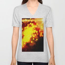 Flammes ensoleillées Unisex V-Neck