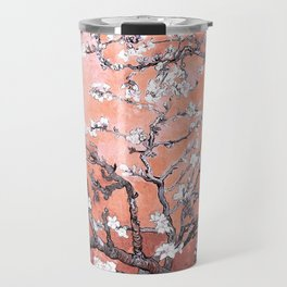 Van Gogh Almond Blossoms : Deep Peach Travel Mug