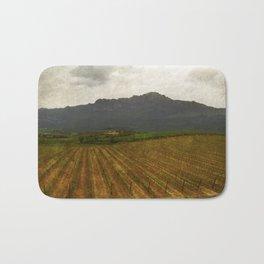 Rioja vineyards, spain, late spring Bath Mat