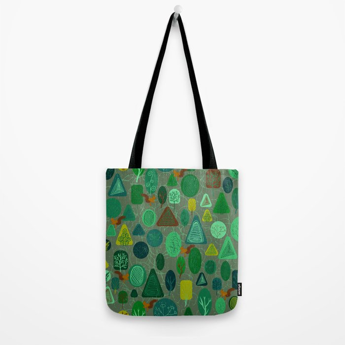 squirrel in forest Tote Bag