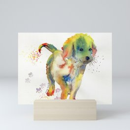 Colorful Puppy - Little Friend Mini Art Print
