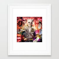 hotline miami Framed Art Prints featuring Night Out: Hotline Miami by GiancarloVargas