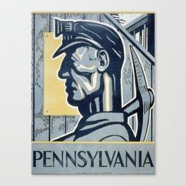 Vintage poster - Pennsylvania Canvas Print