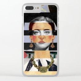 Frida Kahlo's Self Portrait Time Flies & Joan Crawford Clear iPhone Case