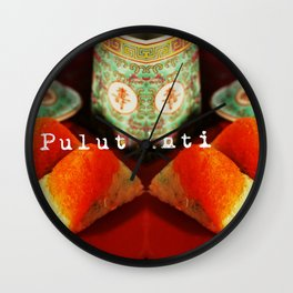 SINGAPORE FOOD - PULUT INTI  Wall Clock