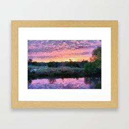 Monet Inspired Sunrise Framed Art Print