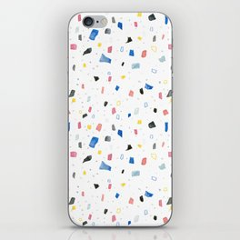 Abstract colorful dots and squares shapes painting print iPhone Skin