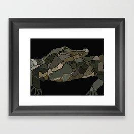 Mellifluous Crocodiles Framed Art Print