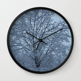 Frosted Trees Wall Clock