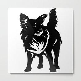 Mixed Breed Dog Metal Print