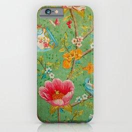 Grunge Floral Pattern 07 iPhone Case