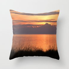 Sundown Gold Throw Pillow