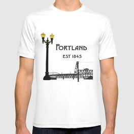 Historic Portland, Oregon by Seasons K Designs T-shirt