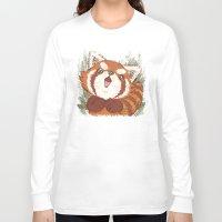 red panda Long Sleeve T-shirts featuring Panda by Toru Sanogawa