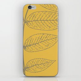 Leaves, Gray and Yellow Ochre iPhone Skin