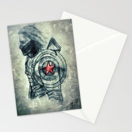 Winter Soldier Shield Stationery Cards