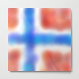 flag of norway - with cloudy colors Metal Print