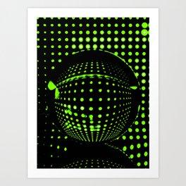 Green spots in the dark Art Print