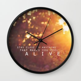 feel alive. Wall Clock