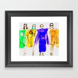 Four Fashionistas Framed Art Print