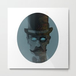 Intergalactic Gentleman, vintage meets surreal. Metal Print