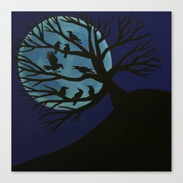 Spooky Raven Tree Canvas Print