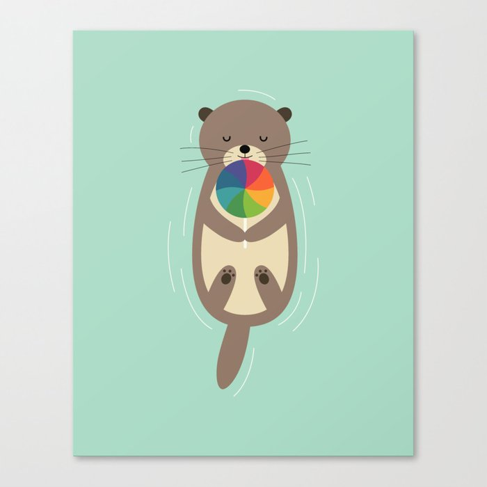 Sweet Otter Canvas Print