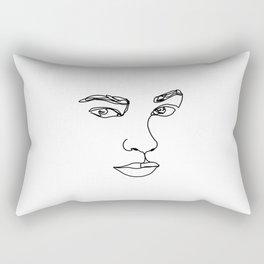 Face one line illustration - Ethel Rectangular Pillow