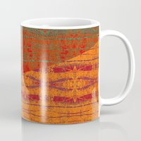 banana leaf Mugs featuring Rakhi Banana Leaf with Red by Pistachia