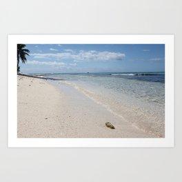Caribbean Paradise Beach Art Print