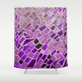 Friday Night Mosaic Shower Curtain