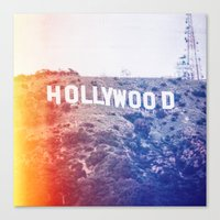 hollywood Canvas Prints featuring Hollywood by Laura Ruth
