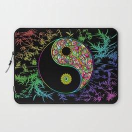 Yin Yang Bamboo Psychedelic Laptop Sleeve
