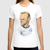 england T-shirts featuring Rooney - England by Sant Toscanni
