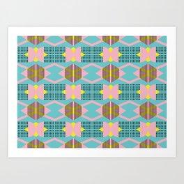 Seamless colorful pattern 5 / abstract / geometric Art Print