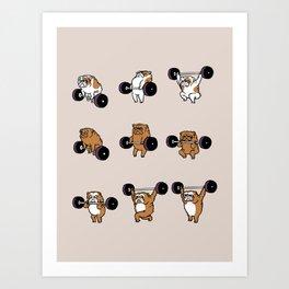 OLYMPIC LIFTING English Bulldog Art Print