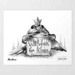 MORDECAI Frog Prince Print Art Print