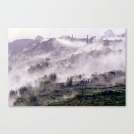 FOGGY FOREST in the VIETNAMESE MOUNTAIN Canvas Print