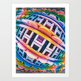 Brace Face Space. 3D Abstract Design Art Print
